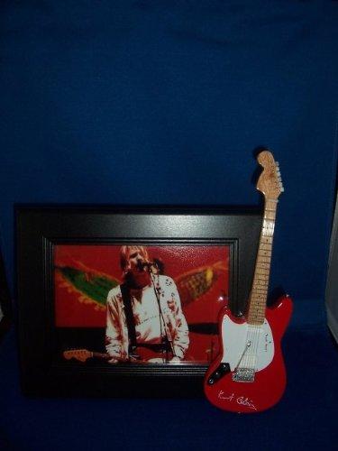 NIRVANA KURT COBAIN Red Guitar Picture Frame