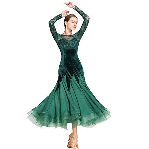 2xl Tango Latín Salsa Rumba Señoras Samba Uk Verde Vestido Salón Baile Práctica Latino Vestidos De Symbollife Sizexl Weseazon Mujeres Competencia Elegante 1XwaROfq