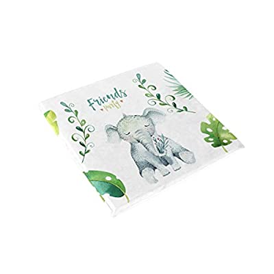 Bardic HNTGHX Outdoor/Indoor Chair Cushion Elephant Tropical Leaf Square Memory Foam Seat Pads Cushion for Patio Dining, 16