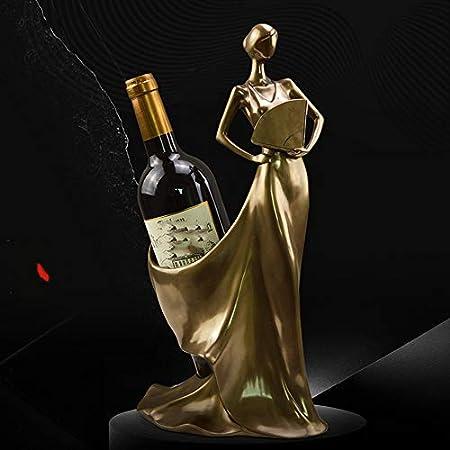 DC Wesley Estantería Resina Artesanía Sala De Estar Vino Gabinete Decoración Casera Creativa Cobre Fundido Belleza Vino Estante
