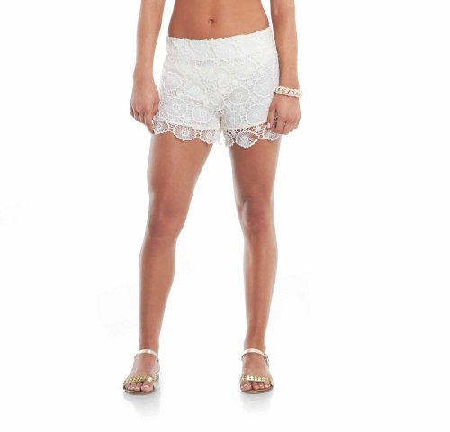 a096f8e012c3b Image Unavailable. Image not available for. Color: Mallory Crochet Shorts:  Natural, Large. Mud Pie