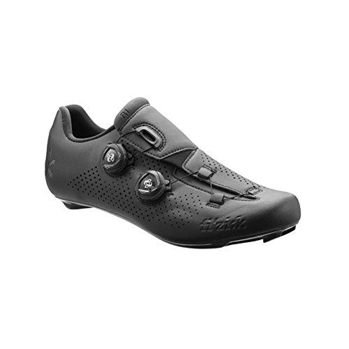 Fizik R1 UOMO BOA Road Cycling Shoes, Black/Black, Size 41.5  (Boas Wrap Arounds)