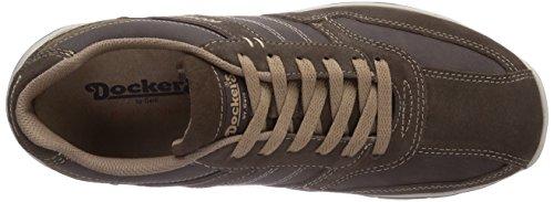 Dockers by Gerli 36DG003 - zapatilla deportiva de cuero hombre marrón - Braun (cafe/stone 333)