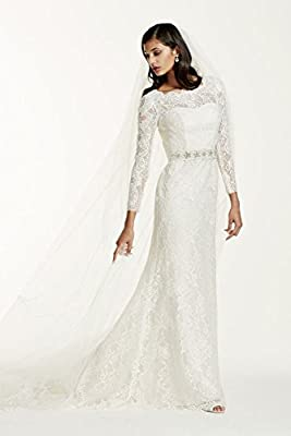 Long Sleeve Wedding Dress with Beaded Lace Style SWG685
