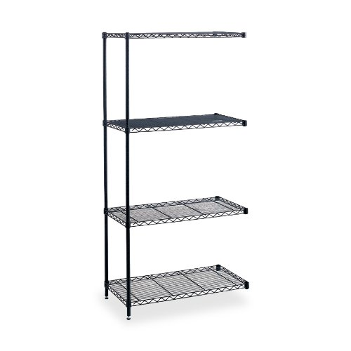 Safco Products 5292BL Industrial Wire Shelving Add-On Unit 48