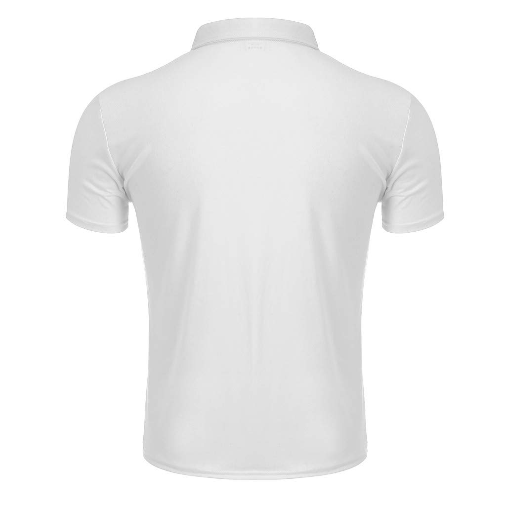 DIOMOR Classic Gentleman Pure Color Polo Shirts Short Sleevel Button Lapel Casual T Shirt Simple British Style Tops