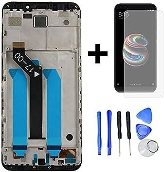 Hypak Pantalla Completa para Xiaomi Redmi 5 Plus (con Marco) Repuesto LCD Tactil Digitalizador (Negro): Amazon.es: Electrónica