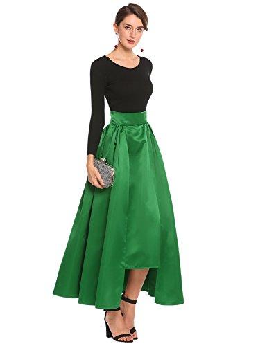 Zeagoo Women Fashion High Waist Solid Formal Party Wedding Skirt Grey S by Zeagoo
