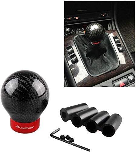 Red DEWHEL 5 6 Speed Manual Shift Knob M10x1.25 Screw On Aluminum for Nissan Mazda Mitsubishi