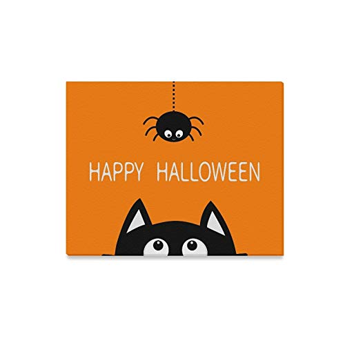 Wall Art Painting Happy Halloween Black Cat Face Head Prints On Canvas The Picture Landscape Pictures Oil for Home Modern Decoration Print Decor for Living Room -