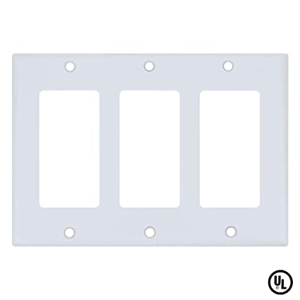 Esd Tech Wall Plate Covers For Light Switches And Outlets 3 Gang