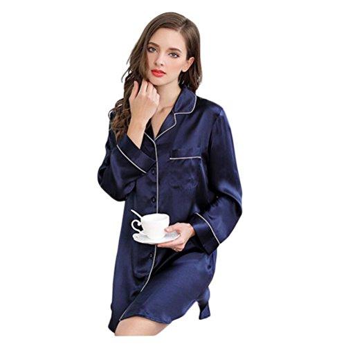 casa biancheria pura notte da set abbigliamento Sue indumenti signora donne notte L da 100 pigiama seta x8qvwBYta