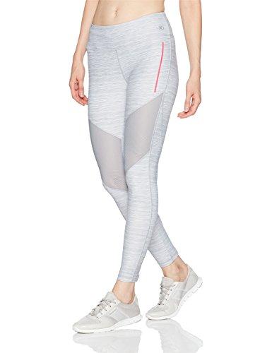 2(X)IST Women's Performance Legging, Lt Grey With Pink, M