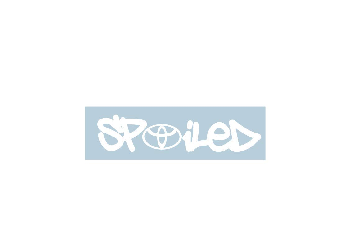 Xpin graphics toyota spoiled logo decal stickers camry corolla 4runner prius tundra tacoma trd