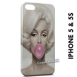 Carcasa Funda iPhone 5/5S Marilyn Monroe Bubble Gum Protectora Case Cover
