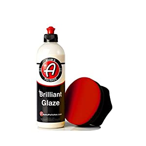 Adam's Brilliant Glaze 16oz - Amazing Depth, Gloss and Clarity - Achieve that Deep, Wet Looking Shine - Super Easy On and Easy Off (Combo)