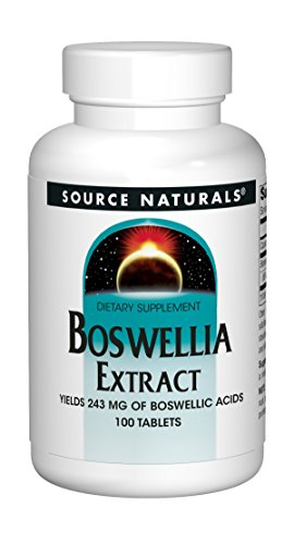 Source Naturals Boswellia Extract Yields 243mg (65%)Boswellic Acids Powerful, Non-GMO Inflammation Response Of Muscle, Joint & Migraine Pain - Supports Connective Tissue & Immune Health - 100  Tablets - Extract 100 Tablets