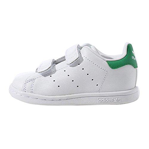 adidas Originals Stan Smith CF Unisex Baby Lauflernschuhe weiß / grün
