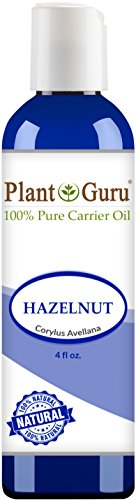 Hazelnut Oil 4 oz. Cold Pressed 100% Pure Natural Carrier - Skin, Body And Face. Great For Moisturizing & (Hazelnut Essential Oil)