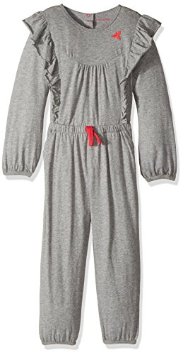 Burt's Bees Baby Baby Girl's Little Romper Jumpsuit, 100% Organic Cotton One-Piece Coverall, Grey Ruffled Bubble, 6X Years ()