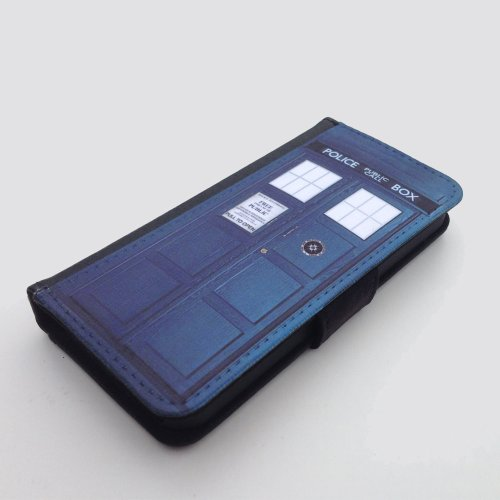Doctor Who TARDIS Samsung Galaxy S5 wallet case PU leather case, foldable flip case, book style - best Galaxy cases