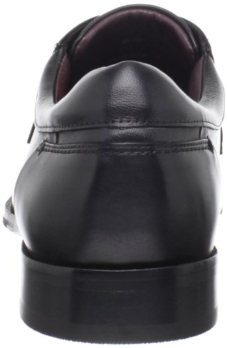 Johnston & Murphy Mens Shaler Runoff Oxford Nero Pelle Di Vitello