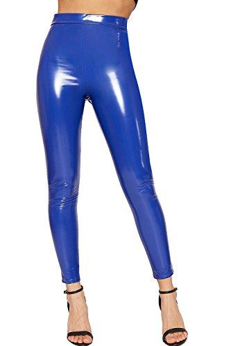 Royal Blue Leather Pants - 5