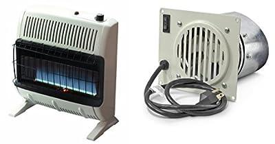 Mr. Heater 30,000 BTU Propane Blue Flame Vent-Free Heater and Blower Fan