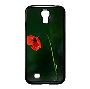 Sad Poppy Watercolor style Cover Samsung Galaxy S4 I9500 Case (Flowers Watercolor style Cover Samsung Galaxy S4 I9500 Case)