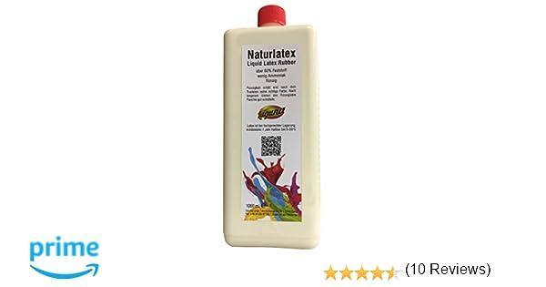 Botella de 1 l de látex líquido, de goma natural, para moldear, leche de látex: Amazon.es: Juguetes y juegos