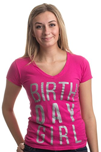 Birthday Girl | Cute Sexy Cool B-Day Bar Crawl Party Ladies' Deep V-Neck ()
