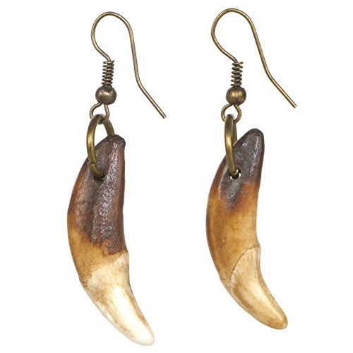 HZMAN Tribal Natural Tooth Drop Dangle Earrings - Pray For Blessings Jewelry