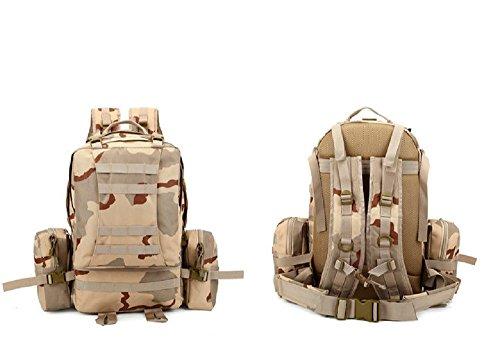 Mefly Mochila táctica multifuncional, Cartera, mochila, hombres y mujeres Mochila táctica, Deportes al aire libre, senderismo,Sansha camuflaje Sansha camouflage