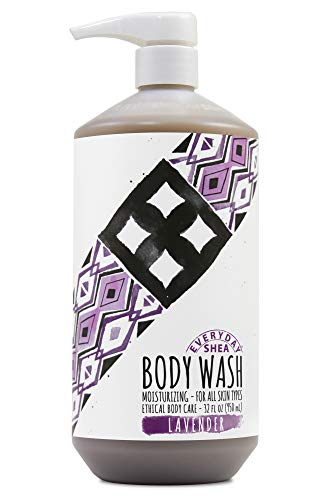 (Alaffia - Everyday Shea Body Wash, Naturally Helps Moisturize and Cleanse without Stripping Natural Oils with Shea Butter, Neem, and Coconut Oil, Fair Trade, Lavender, 32 Ounces (FFP))