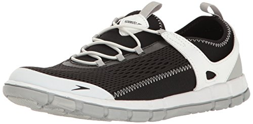 Speedo Women's The Wake Athletic Water Shoe, Black/White, 8 C/D US from Speedo