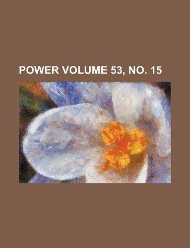 Download Power Volume 53, no. 15 PDF