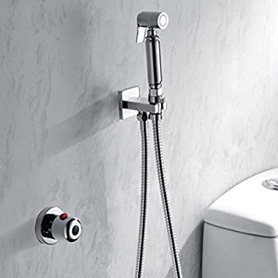 LightInTheBox Bathroom/Toilet Handheld Shattaf Bidet Shower Spray, With Thermostatic Faucet Valve And 150 cm Stainless Steel Hose