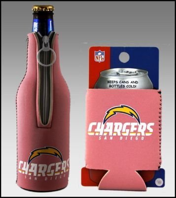 SET OF 2 SAN DIEGO CHARGERS PINK WOMENS KOOZIE COOZIE