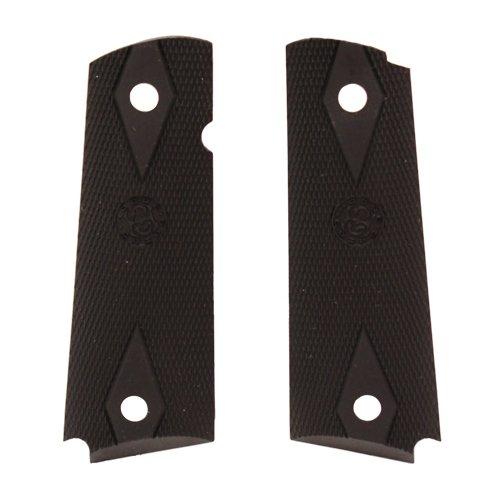 Hogue 45010 Colt Government Rubber Grip Panels, black, Checkered with Diamonds by Hogue