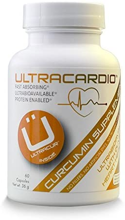 UltraCardio Extra Strength Olive Leaf Extract 18 Oleuropein with Curcumin 60 Vegetarian Capsules