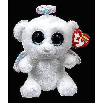 4c1075ac506 Amazon.com  Beanie Boos Halo Angel Bear White 15cm 6   Kawaii Ty Big ...