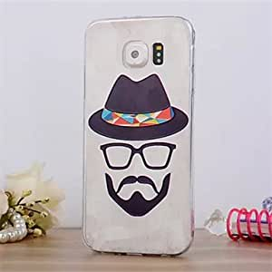 GFC Moustache Pattern 3DThree-dimensional Relief Slim TPU Phone Case for Samsung Galaxy S6
