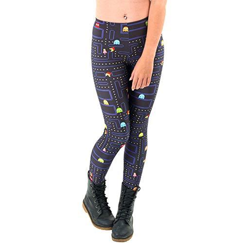 MAOYYMYJK Yoga-Hose Für Damen Fashion Slim Digital Print Leggings D1394 Schwarze Hosen Frauen