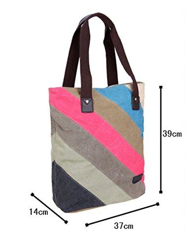Frauen Jahrgang Leinwand Schulter Ipad Messenger Handtasche Arbeiten Multifunktional Tasche,A-OneSize