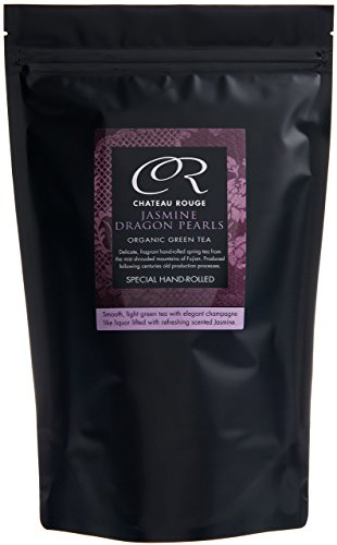 (Chateau Rouge - Jasmine Dragon Pearls, Loose Leaf Organic Green Tea, 350g)