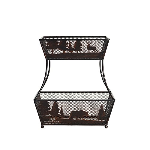 Mossy Oak 2-Tier Flat Back Metal Basket