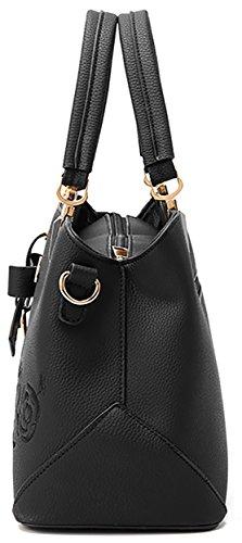 sacs à main femmes dames Oruil cuir sacs Messenger souple Vintage PU Sacs fourre en les bandoulière cuir en Rouge pour à tout wq55aFE8