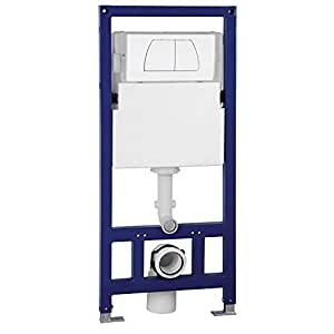 EAGO PSF332 Wall Tank and Carrier for Wall Mounted Toilets