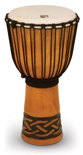 Toca TODJ-12CK Origins Series Rope Tuned Wood 12-Inch Djembe - Celtic Knot Finish Toca Wood