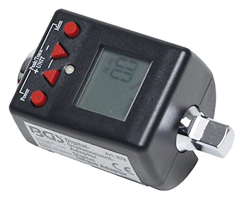 0.375' Drive Adapter - BGS technic PRO+ Digital Torque Adaptor, 3/8', 27-135 Nm